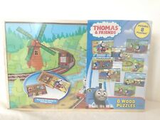 Thomas & Friends 8 Wood Puzzles *New Factory Sealed* With Storage Case Cardinal