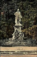 Berlin Postkarte 1910 Lessing Denkmal Tiergarten Stadtpark Park Standbild Statue