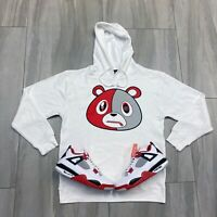 Hoodie to match Air Jordan Retro 4 Fire Red Sneakers. E Bear Fire Red Hoodie
