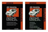 2003 Toyota 4-Runner Shop Service Repair Manual Book Engine Drivetrain OEM