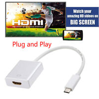 USB 3.1 Type C to HDMI TV Adapter HDTV 1080P for MacBook Samsung S9 S8 Note 8 LG