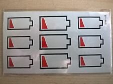 SHEET OF TEMPORARY CHARGING BATTERY SYMBOL TATTOOS (BRAND NEW) 110mm X 60mm