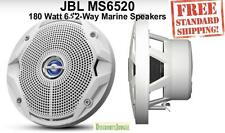 "JBL MS6520 180 Watt MS 6.5"" 2-Way Coaxial Marine Audio Speakers 6-1/2"" (White)"