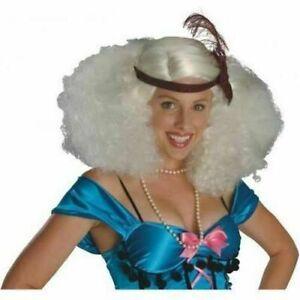 Burlesque Platinum Wig Costume Accessory, Afro, Flapper, 1920's, 70's Fro