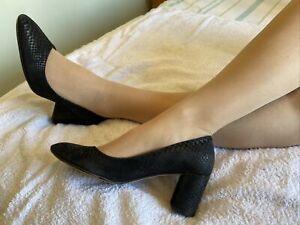 Clarks Black Leather Classic Court Shoes Size 8 EUR 42