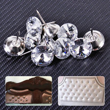 10pcs 20mm Sofa Headboard Wall Decor Bright Deco Tacks Crystal Upholstery Nails