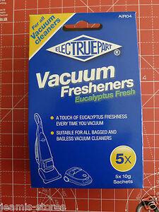 VACUUM CLEANER FRESHNERS  EUCALYPTUS FRESH FOR HENRY/NUMATIC PACK OF 5 SACHETS