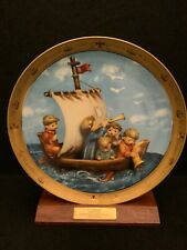 "Hummel ""Land In Sight� By Danbury Mint Commemorates Columbus' Discovery W/ Stand"