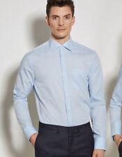Unifarbene klassische Herrenhemden mit Kentkragen und Krempelärmeln