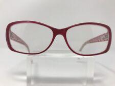 Affordable Eyewear Eyeglasses 55-15-140 Clear Pink Tina Red 3756