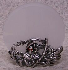 Candle Tealight Votive Holder Halloween Grim Reaper NEW pewter metal