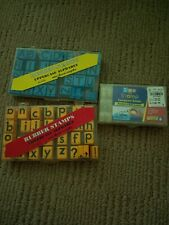 Educational Insights Uppercase & Lower Case Alphabet Rubber Stamps 1470 1471