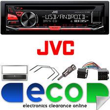 VAUXHALL Corsa C JVC Rosso Display CD MP3 USB Aux Radio Stereo Auto Kit (Argento)