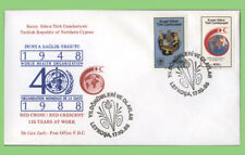Cyprus (Turkish) 1988 Red Cross set on First Day Cover