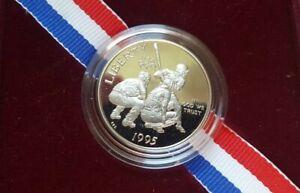 1995 Baseball Proof Half Dollar Coin for 1996 Atlanta Olympics