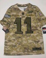 Carson Wentz Philadelphia Eagles Mens Size Large L Salute To Service NFL Jersey