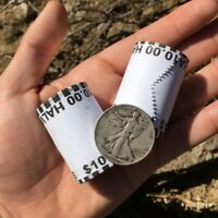 UNSEARCHED HALF DOLLAR COIN ROLL ($10 FACE) + 90% SILVER WALKING LIBERTY COIN(1)