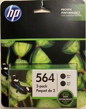 NEW HP 564 BLACK TWIN PACK 2 ORIGINAL INK CARTRIDGES IN RETAIL BOX BUY IT NOW
