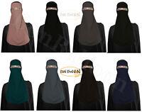 Half Niqab Long Nosepiece Face Veil Breathable Muslim Hijab Hejab Women Burqa