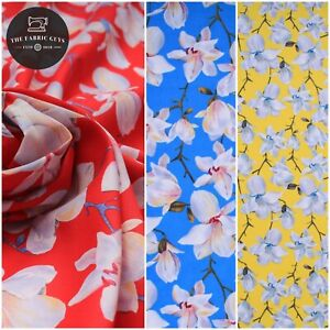"""100% Cotton Lawn, Vintage Floral Summer Day, High Quality 58"""" Full Metre Length"""