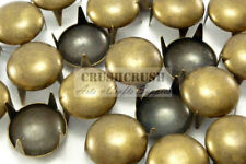 50pcs 14mm Brass Round Studs Nailheads Spots Leather Craft Shoes Purse Emo S105