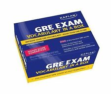 Kaplan GRE Exam Vocabulary in a Box Second Edition 500 GRE Words Flash Cards A1