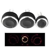 3pcs Air Condition A/C Panel Switch Buttons Control Knob For VW Jetta MK5  /