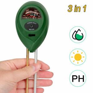 Bodentester Pflanzen Indoor Outdoor PH Wert Messgerät Feuchtigkeitsmesser Licht
