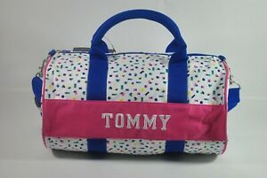 New With Tag TOMMY HILFIGER MINI Shoulder Travel DUFFLE GYM BAG - Multi Color