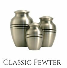 Classic Pewter Metal Pet Urn, Xlarge Dog