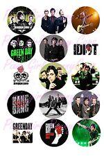 "15 Precut Bottle Cap Images Green Day Billy Joe Bang Idiot 1"" Bottle Cap Images"