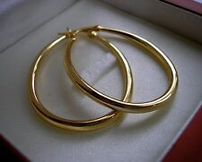 LARGE 9ct Gold gf Hoop Earrings ALMOST SOLD OUT! SILLY PRICE ref 007