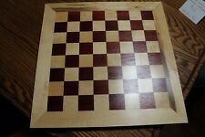 "Solid wood Bloodwood and Maple Chessboard  1 1/2 "" Squares"