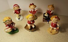 Lot of 6 Campbell Kids Figurine Danbury Mint