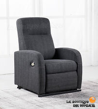 Sillón Relax Levantapersonas en Tela Modelo Trade Color Gris Marengo