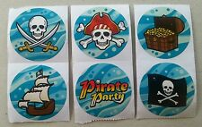 20 PIRATE Stickers Kids Craft Party Favors Loot Bags