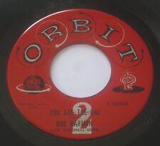 BOB HARMON - Mallie Ann/You Are The One 45 ORBIT Jack Marshall Orch. 1958 RARE!