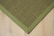 Sisal Teppich Manaus mit Bordüre grün meliert 200x250 cm 100% Sisal