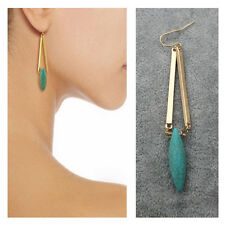 Natural Turquoise Drop/Dangle Hook Earrings Women's Fashion Gold Plated Jewelry