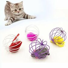 Fun Gift Intelligence Toys Mouse in Cage Ball Rat Toy For Pet Cat Kitten Playing