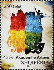Albania Stamps 2011. 45-th ANNIVERSARY OF ARTS ACADEMY. Set MNH