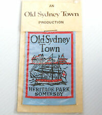 VINTAGE OLD SYDNEY TOWN SOMERSBY EMBROIDERED SOUVENIR PATCH WOVEN CLOTH BADGE