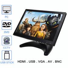 "10.1""/10"" IPS LED HD Color Display Monitor Screen BNC AV HDMI VGA USB w/Speaker"