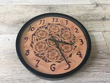 Leather Pattern DIY Designs Clock Paper Sweing Template Tools K001