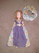 """Doll 7"""" storybook """"Dress Me"""" #18 blonde Hair Sleep eyes high heels Purple outfit"""