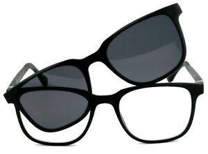 Gleitsichtbrille, Herrenbrille mit Sonnenclip  +1,00 +1,50 +2,00 +2,50