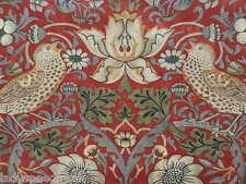 William Morris Curtain Fabric STRAWBERRY THIEF 3.15m Crimson Cotton Design 315cm
