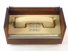 Vintage Western Electric Push-Button Telephone in Wood Case, Tested Working