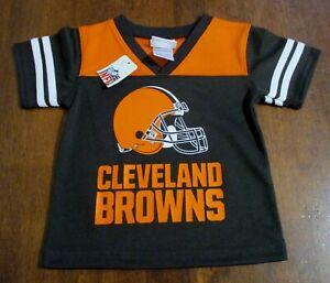 Toddler Size CLEVELAND BROWNS NFL Team Apparel JERSEY Ft HELMET Orange/Brown NWT