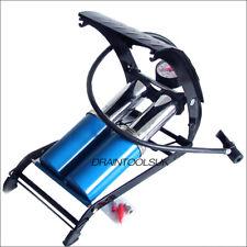 Double Barrel Cylinder Air Pump Inflator Foot Pump Test Bags Cars Bicylces Test